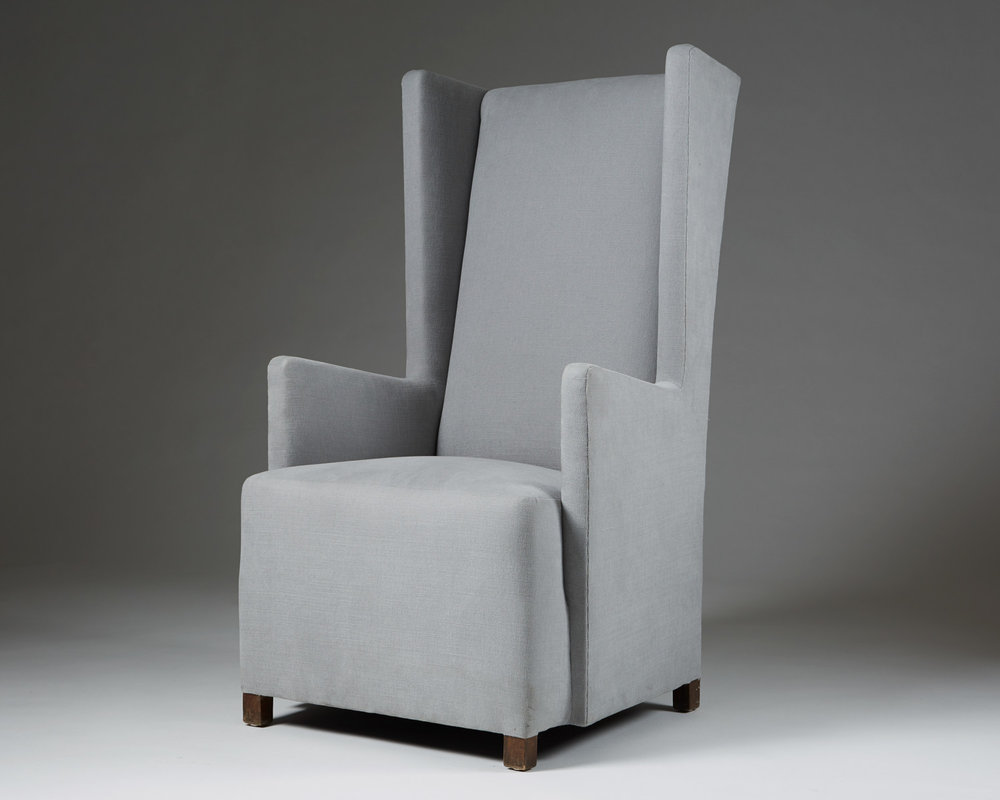 Armchair, designed by Uno Åhrén or Björn Trägårdh for Svenskt Tenn, Sweden. 1930's