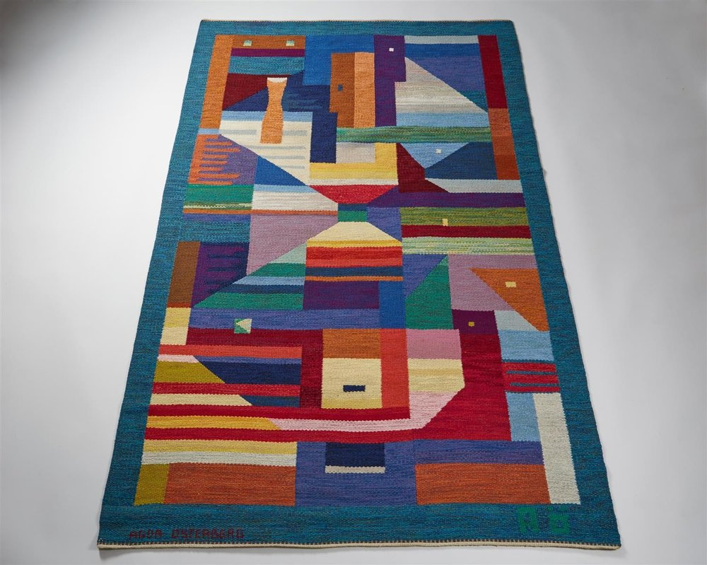"""Rug """"Dream vision"""" designed by Agda Österberg, Sweden. 1970's"""