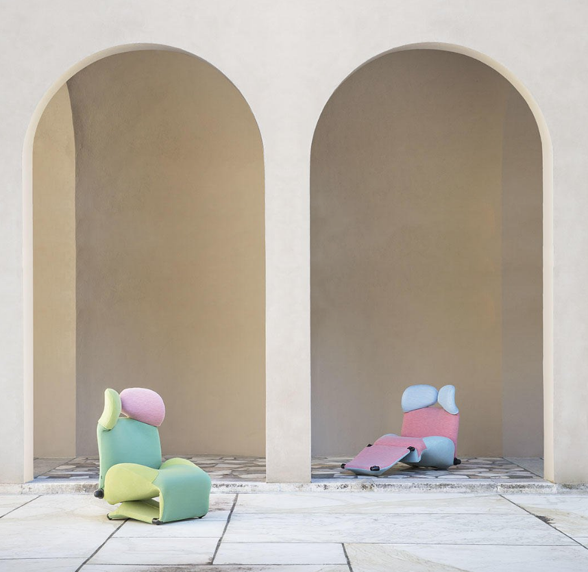 Wink chair by Toshiyuki Kita