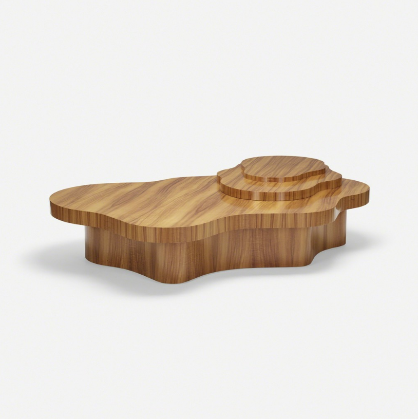 After T.H. Robsjohn-Gibbings coffee table, c. 2005 Hawaiian Koa wood