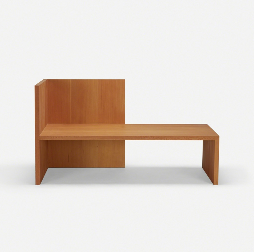 Donald Judd Wintergarden bench, 1980 Douglas Fir Wood & Plywood Furniture