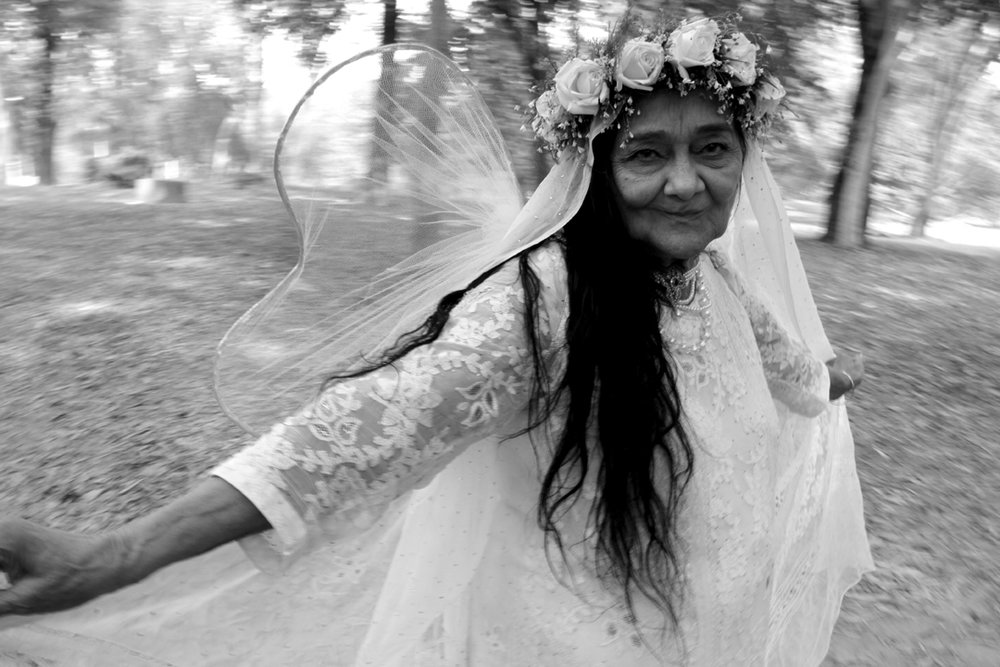 Indri as fairy under the big banyan tree. Howrah. West Bengal