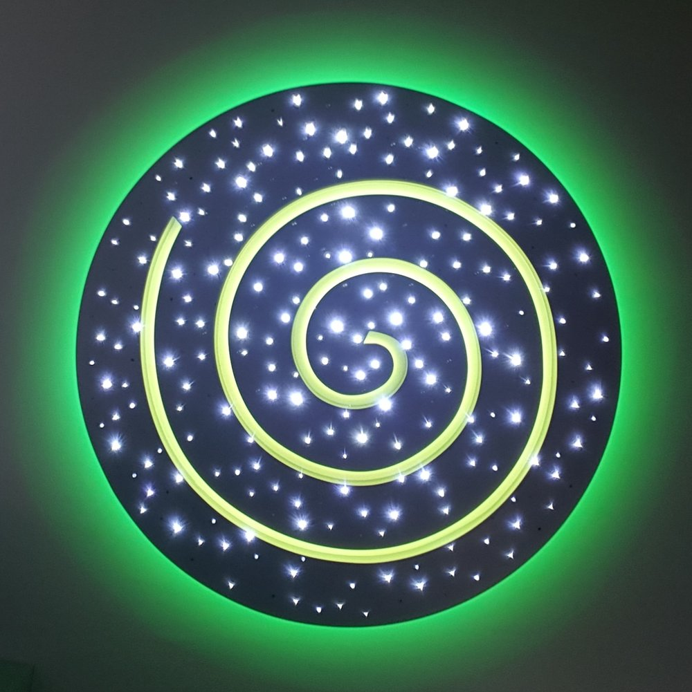 LED star ceiling - 2d-spiral design