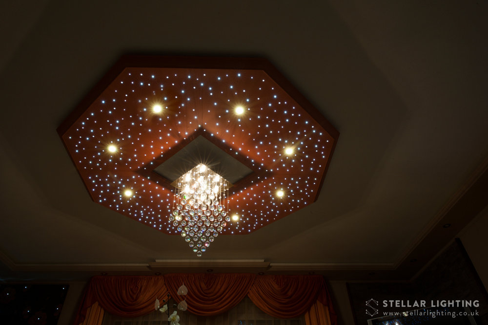 Classical Octagon star ceiling, edge unlit
