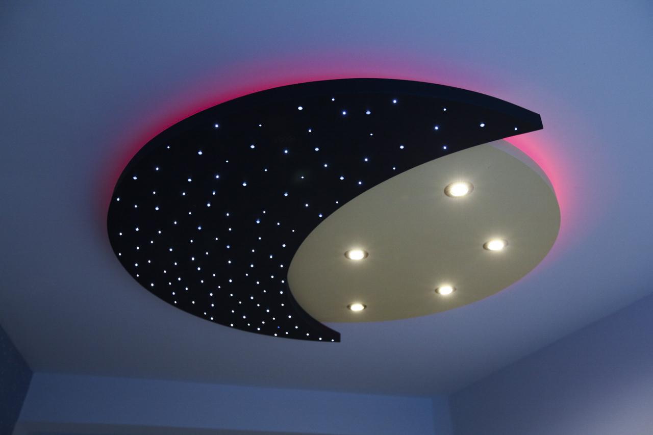 Stellar lighting day and night led starlight ceiling pink edge aloadofball Image collections