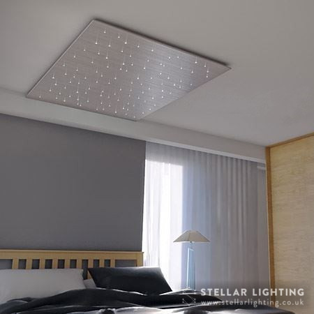 Star ceiling brushed metallic finish - silver