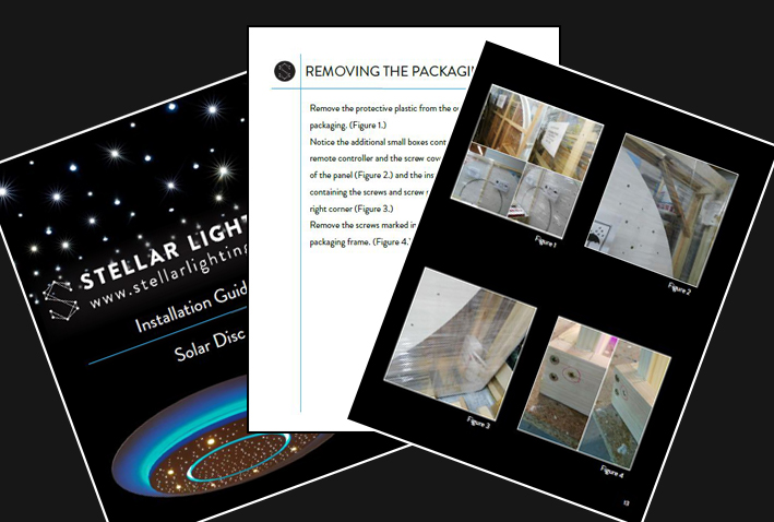 Instructions for fitting a star ceiling - All our instructions are in clear, plain English