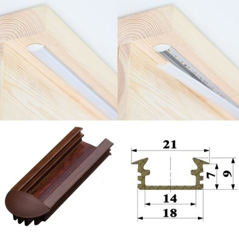 Recessed <p>The profile is hidden in a cut under the step. A popular choice for customers who have not finished their stairs yet.</p>