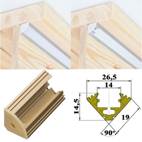 Angular <p>Mounted in the corner between the stair tread and the riser.</p>