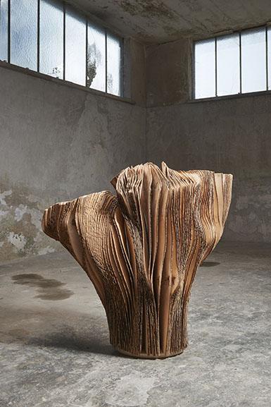 Herbert Golser, Untitled, 2014-15, ash wood, 105x55x108cm, courtesy Rosenfeld Porcini