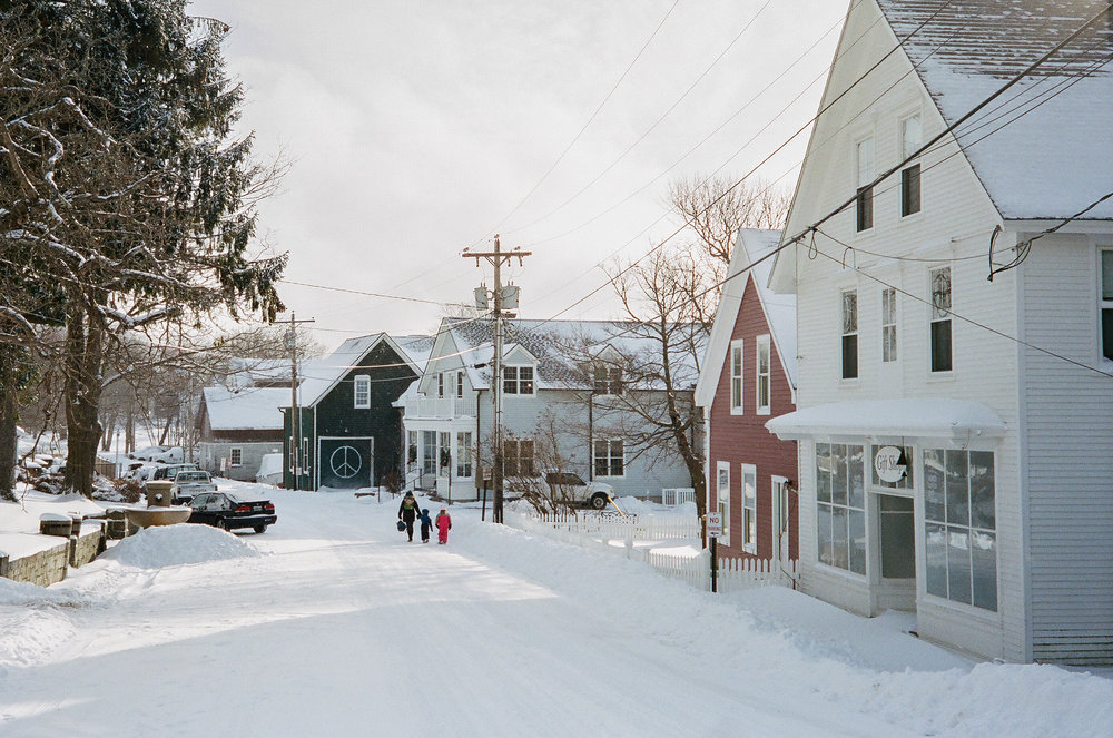 Village in Winter, 2016 – Photo by Bill Trevaskis