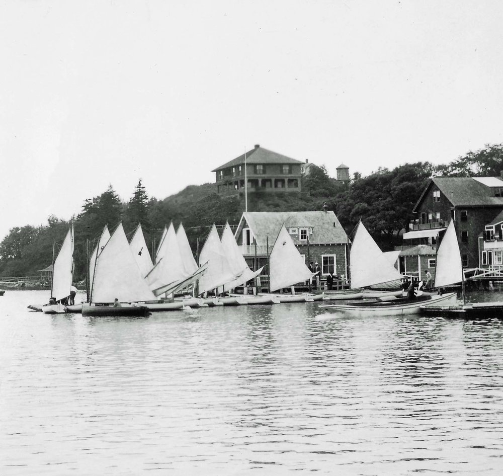 Dinghies at the Casino, early-20th century