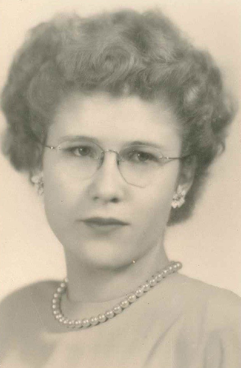 Freda's high school graduation picture in 1949, the year she left for Canada