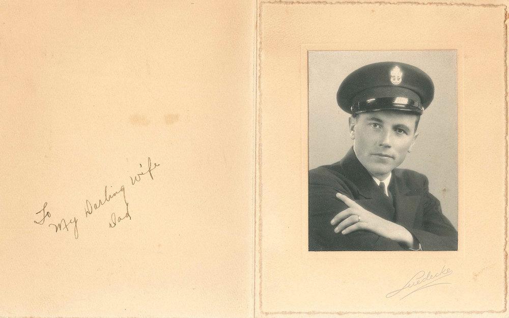 Doug's father, Irven Stone, during World War II