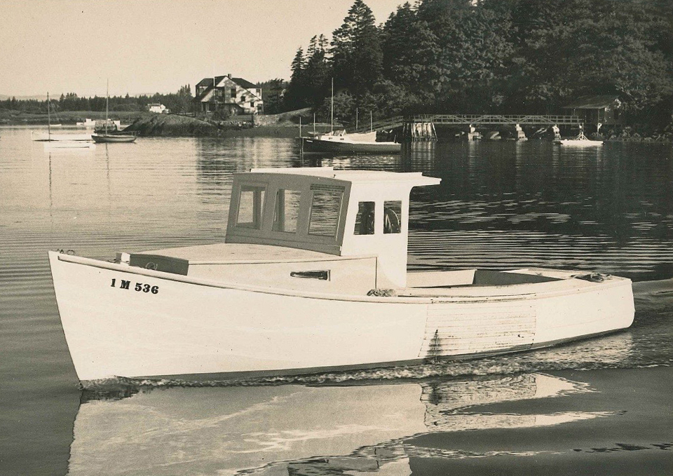 A lobster boat built by Doug's father