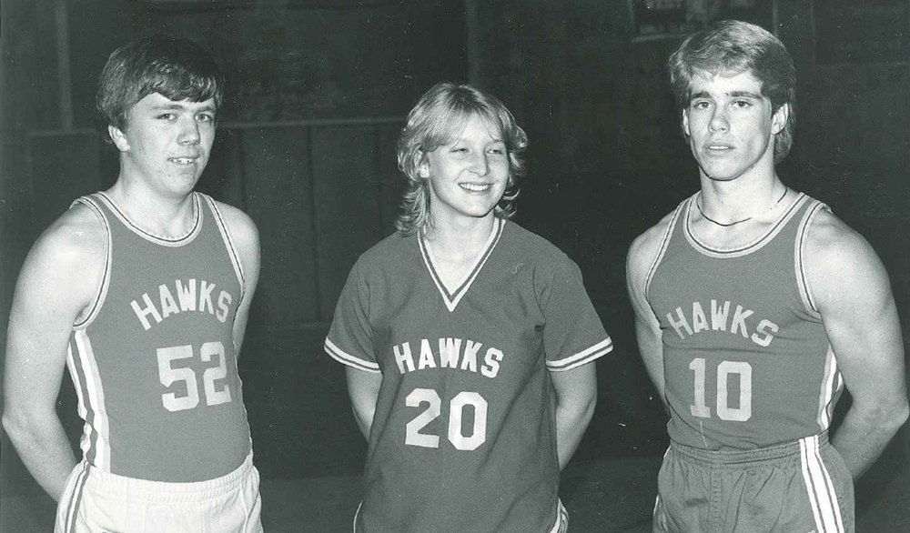 Roman (right) scored over 1000 points during his high school basketball career