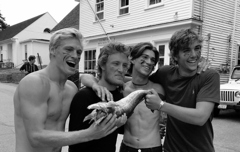 Jakob and friends after winning the codfish relay race – Photo courtesy of Jenny du Pont