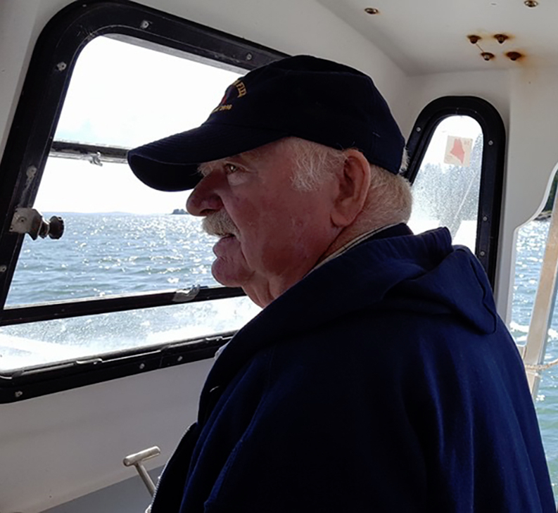Gene out on the water