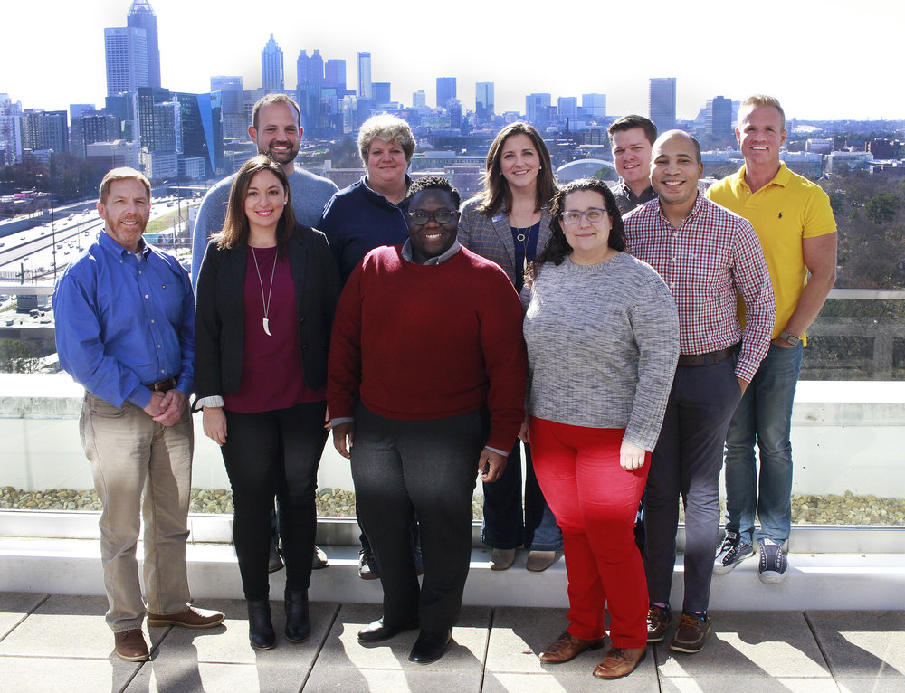 2019 National Board of Governors - (Back row, from L - R) - Ryan Roche, Constance Callahan, Rebekah McCorvey, Michael Caston, Matt Garrett; (front row, from L - R) - Charlie Frew, Ivette López, Percy Brown, Brigid Scarbrough, Malik Brown