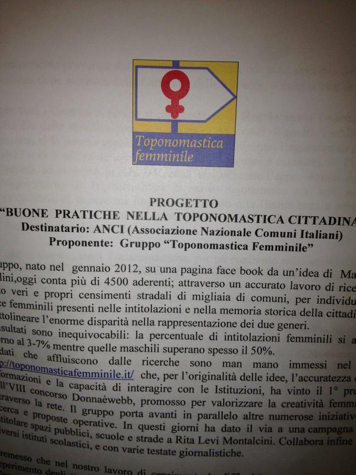Progetto Anci Toponomastica
