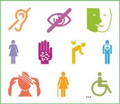 Simboli disabilità sensoriali