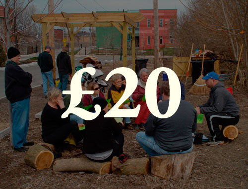 £20  tops up our fund for new groups that have very  limited resources .