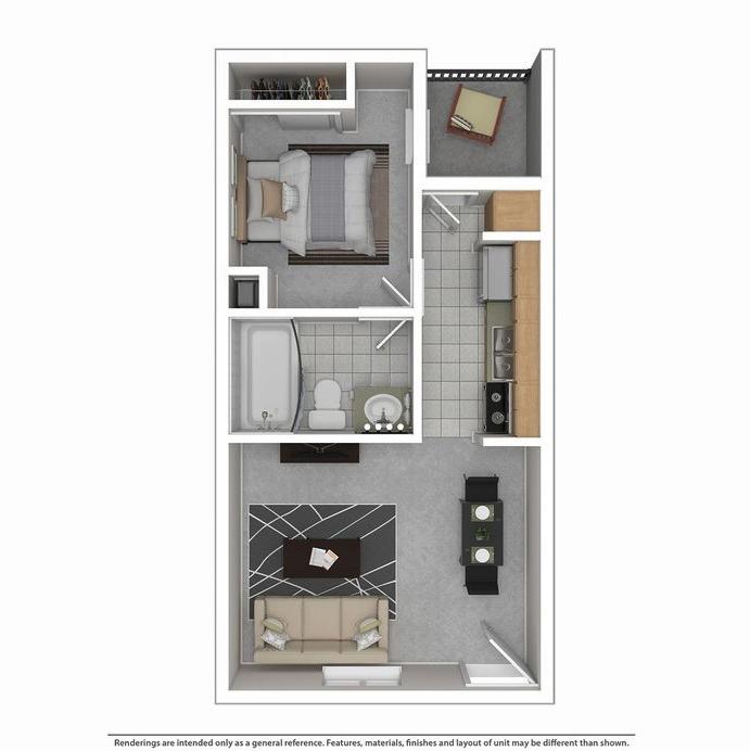 Montclair Estates Garland Studio Apartment