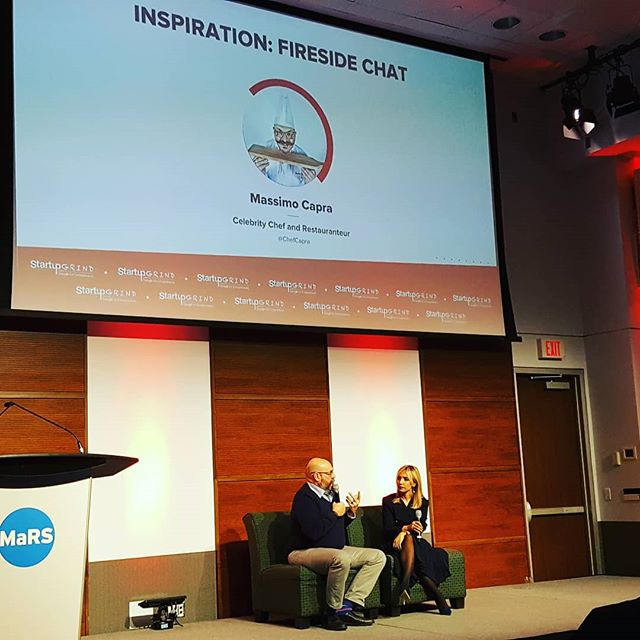 @chefcapra talking Inspiration, Mentors and Scaling Up  #scaleupto2018 #startupgrind #toronto #chefmassimo #inspiration #mentors #scalingup #entrepreneurship