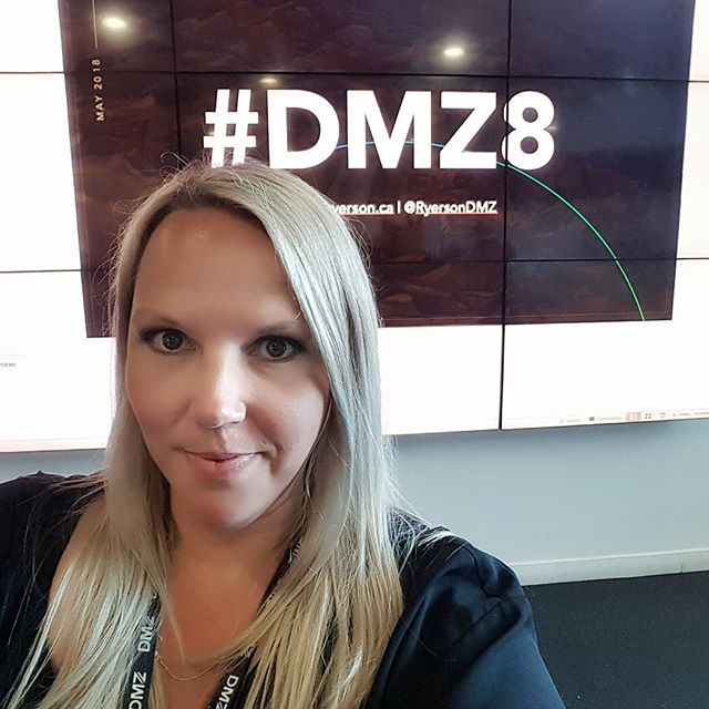 Happy 8th birthday DMZ!!! Hustl'n in Toronto yesterday topping it off with a visit to @ryersondmz  #dmz8 #dmz #hustle #startups #entrepreneur #femalefounders #womenintech #toronto #fundraising #ontario #canada #mobilehealth #ai #emotionalintelligence #eq #mentalhealth #mentalhealthmatters #apps #corporatetraining