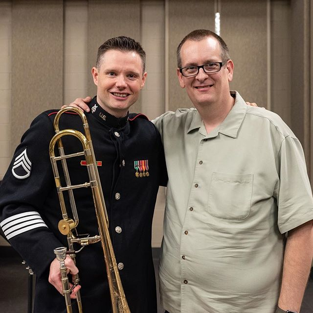 It was great to have my IU classmate Phil Stehly on campus last week with the West Point Band Trombone Quartet!