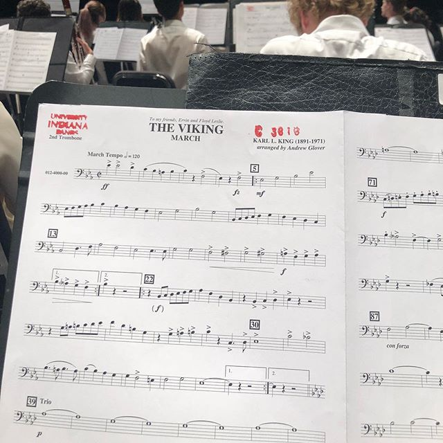 It was fun to sit in with the IU Summer Band and play one of my favorite marches! #hoosiers #gohoosiers