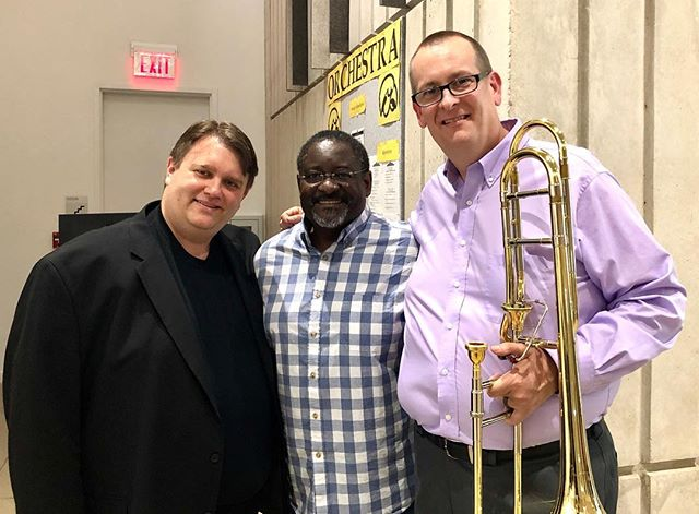 "Enjoyed presenting the world premiere of David Wilborn's The Gift of ""Little G"" today at ITF with my UA colleague Kevin Chance. So honored to have this piece written for my son Garrett.  #itf2018 #trombone #bachbrass"