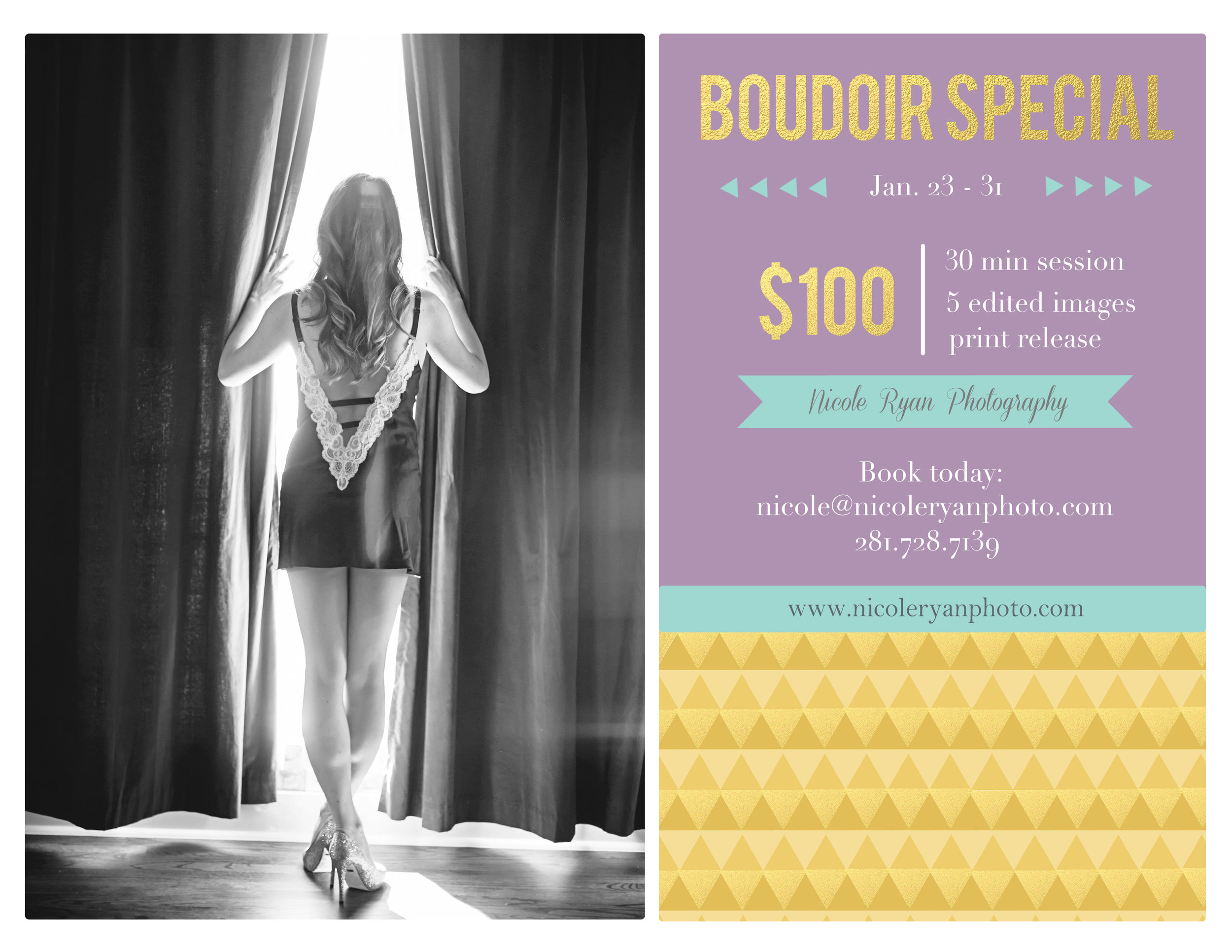 Mini Boudoir Session from Nicole Ryan Photography