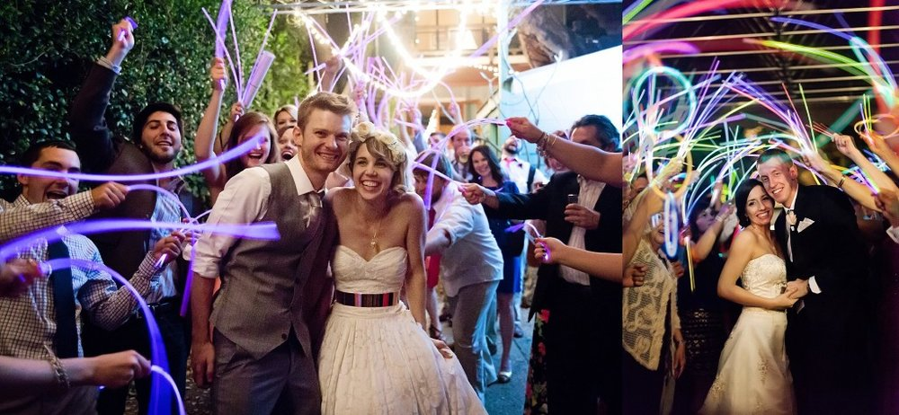 Glowstick wedding exit