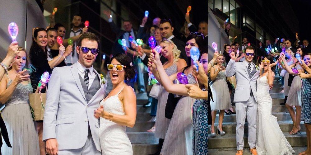 glow in the dark maracas wedding exit