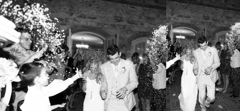 flower seed wedding exit
