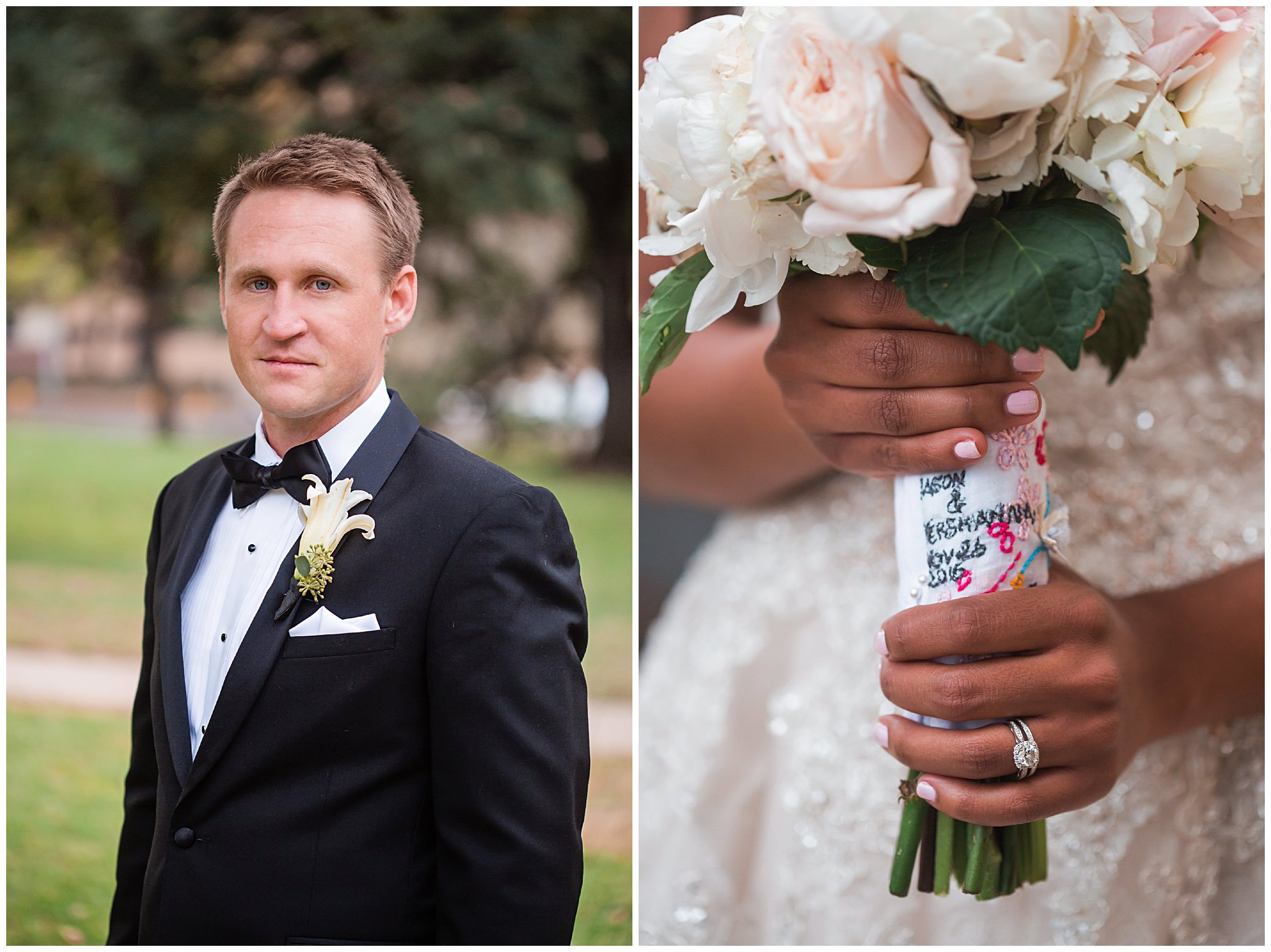 bridal portraits in austin texas at the UT campus