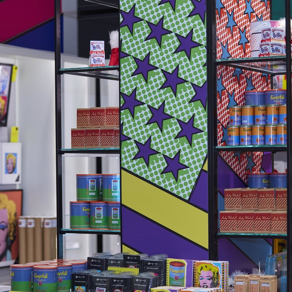 American pop art gift shop display