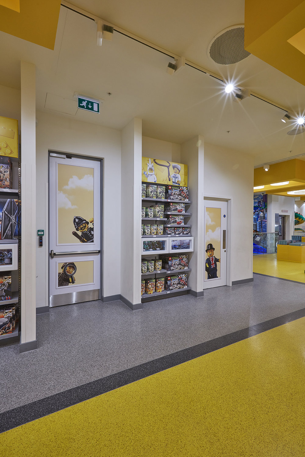 Instore Exit doors with LEGO vinyls over sections