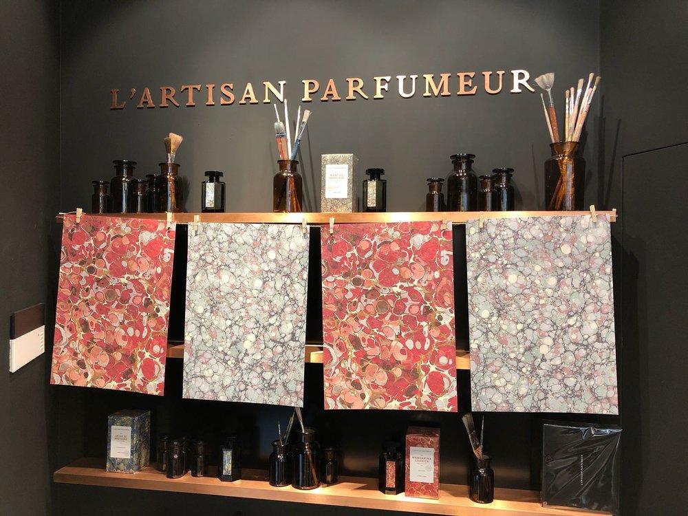 Interior of L'artisan Parfumer store