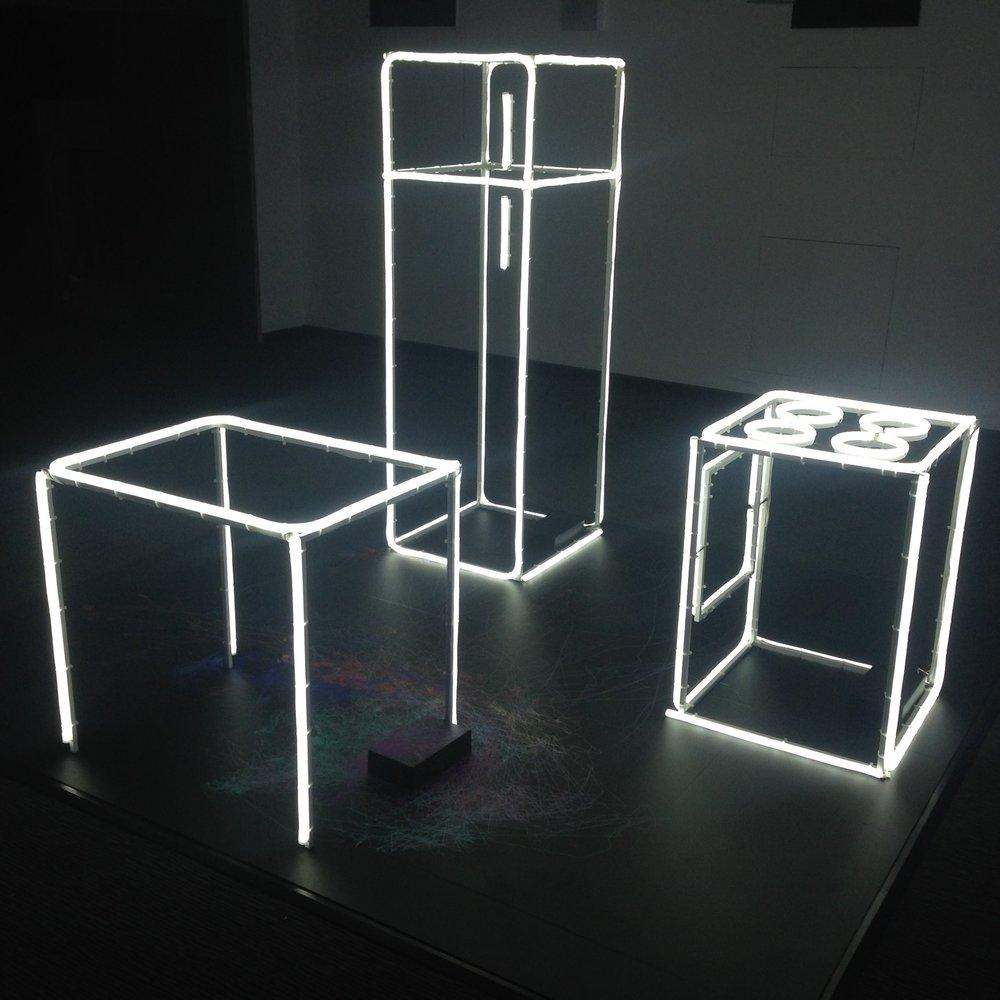 LED rope light table fridge and cooker