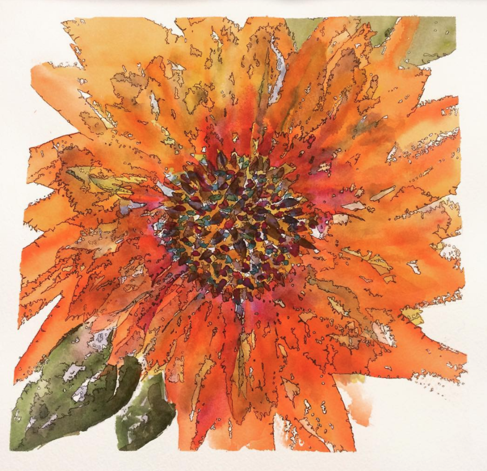 Water Color with Ink Flower.png