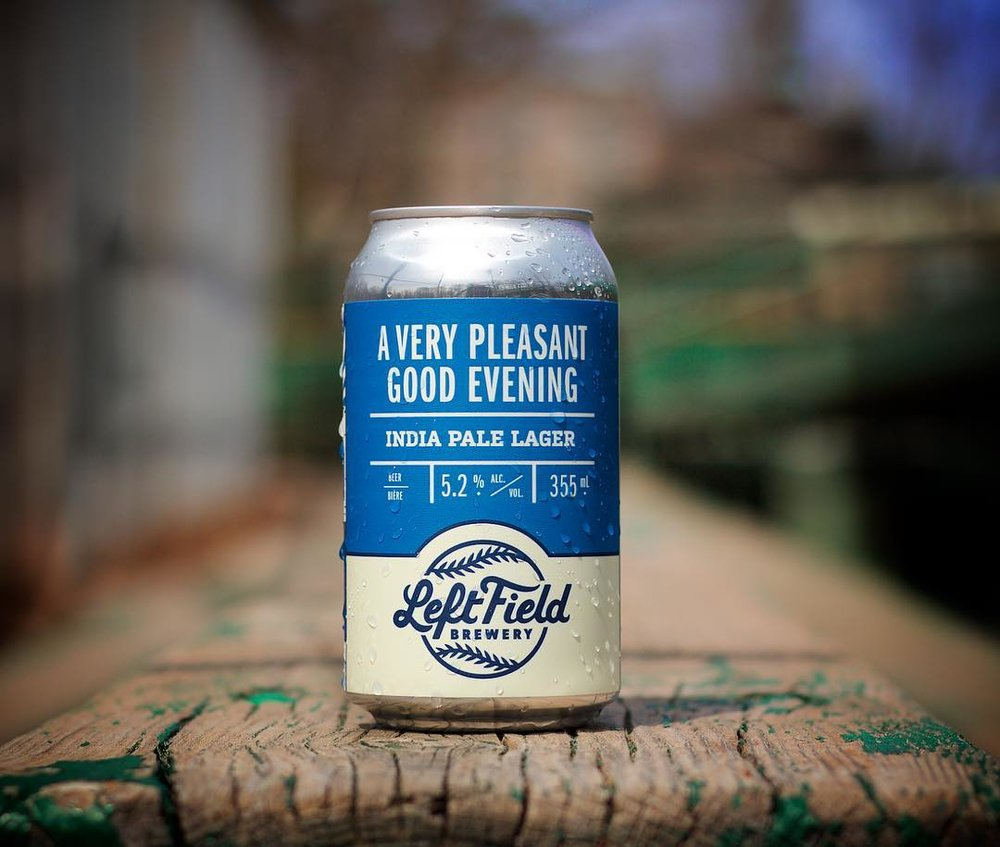 Left Field - A Very Pleasant Good Evening India Pale Lager - named for Vin Scully's famous opening welcome, this hop forward lager is crisp and dry with a refreshing citrus zip - perfect for enjoying as the sun disappears and the night game begins.