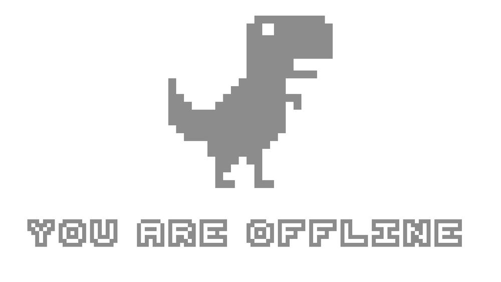 Offline Dino by  Sophia Heckman