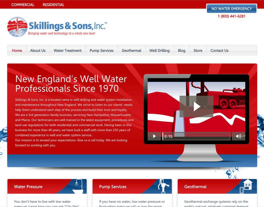 Skillings and Sons Website After Design