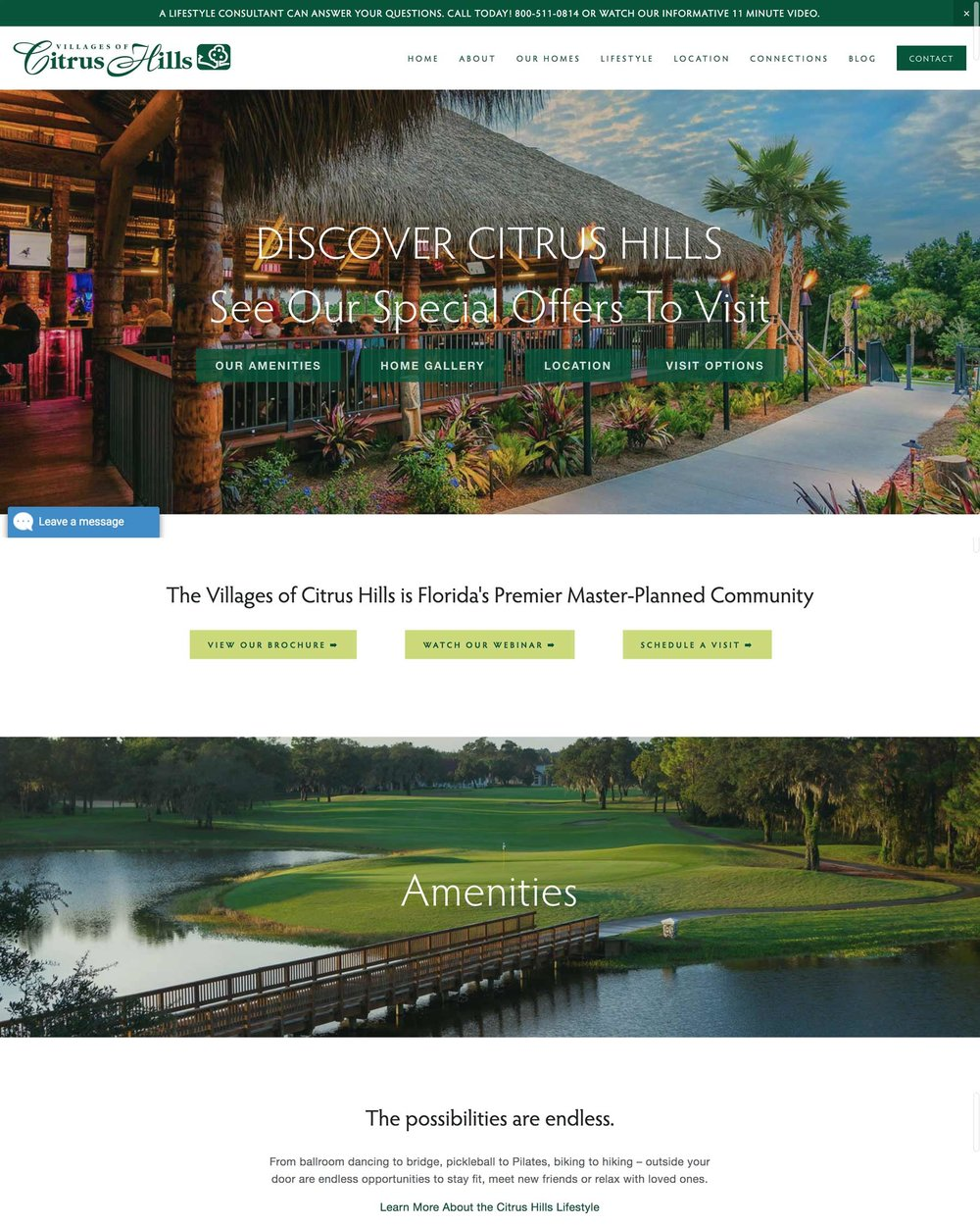 The Villages of Citrus Hills - Retirement Community Home Builder, Developer and Planned Community