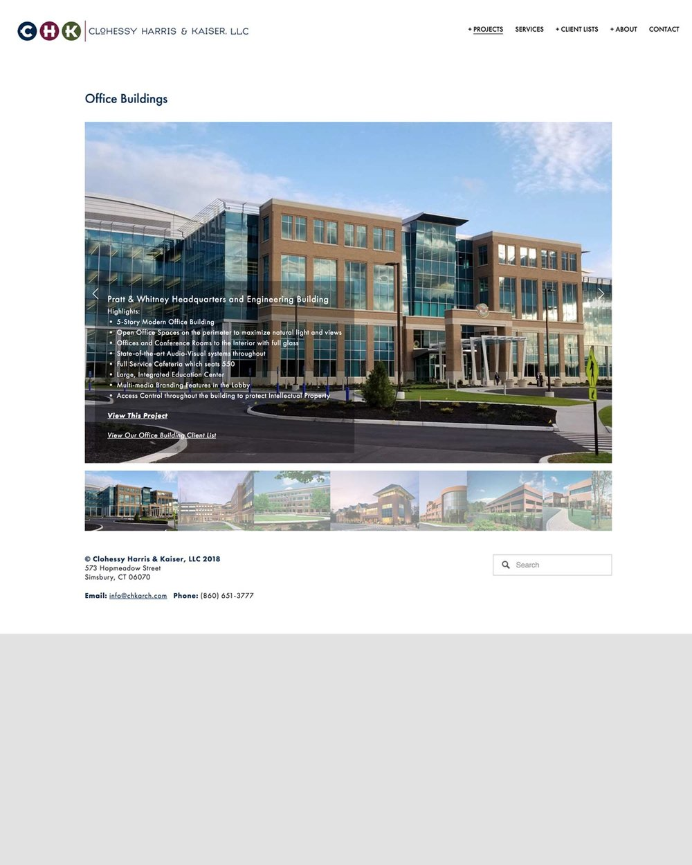 Clohessy, Kaiser & Harris - A Commercial Architectural Services Firm Known For Office Buildings
