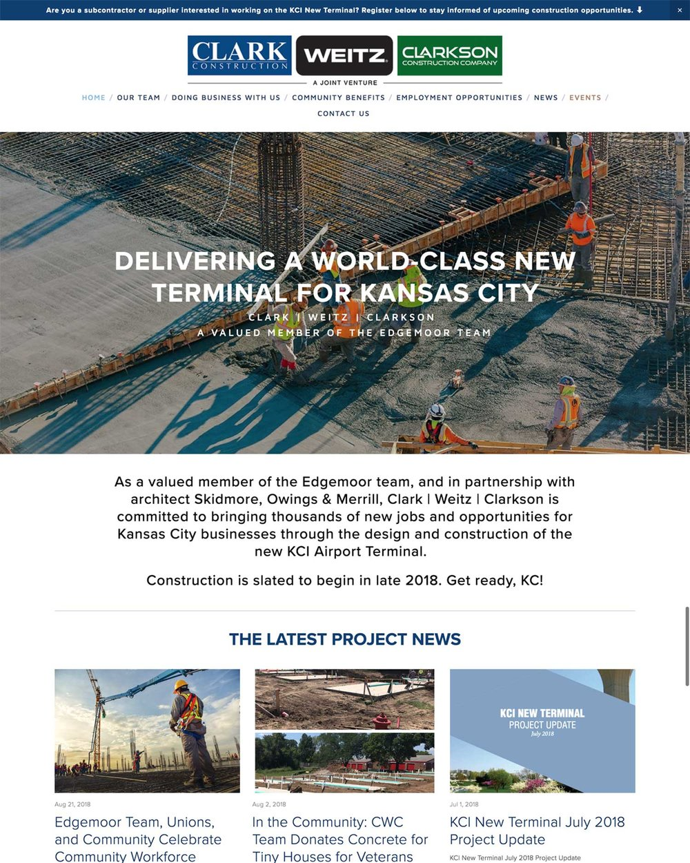 Clark Construction Group - Kansas City International Airport Terminal Construction Project