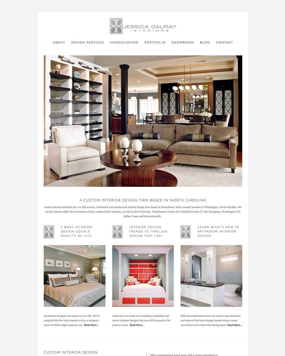 Jessica Dauray Interiors - A Residential Design Firm Located Near The High Point Furniture Market
