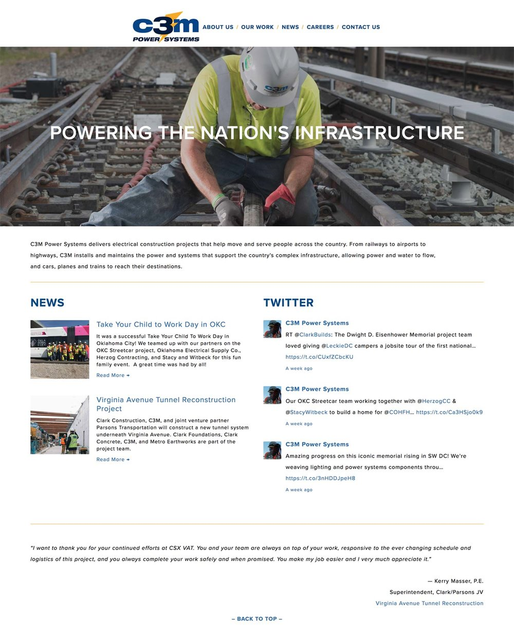 C3M Power Systems - Rail and Infrastructure Construction Division Of Clark Construction Group